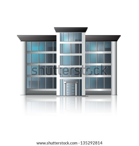office building with reflection and input.