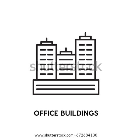 Office Buildings vector icon, residence symbol. Modern, simple flat vector illustration for web site or mobile app