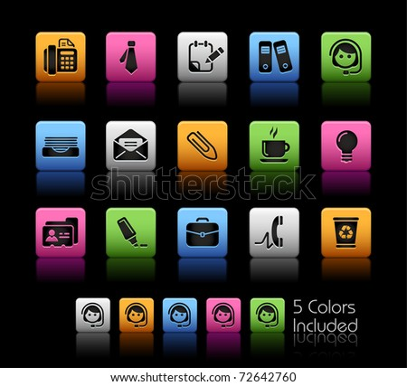 Office & Business // Color Box -------It includes 5 color versions for each icon in different layers ---------