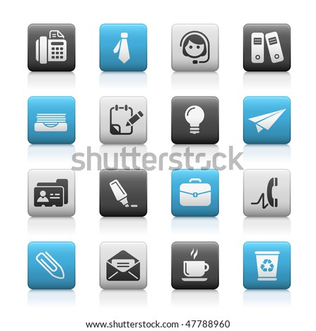 Office & Business Web Icons // Matte Series