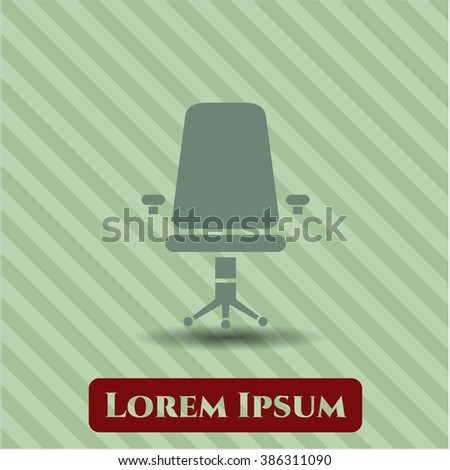 Office Chair icon vector illustration