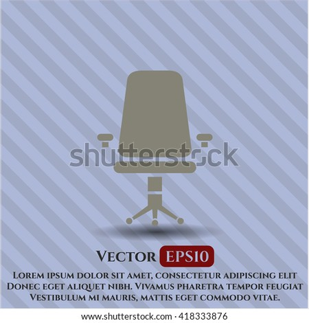 office chair icon vector symbol flat eps jpg app web