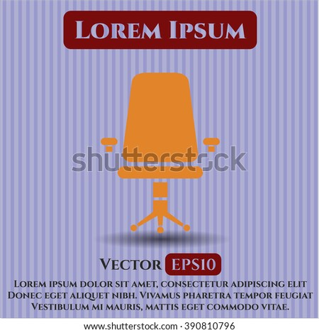 Office Chair vector icon or symbol