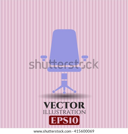 Office Chair vector symbol