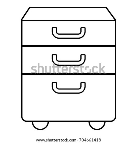 Office closet icon. Outline illustration of office closet vector icon for web