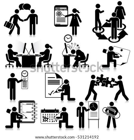 Office Communication Icon Set