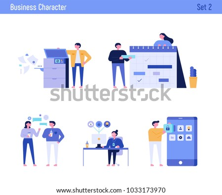 office concept business people vector illustration flat design - Shutterstock ID 1033173970