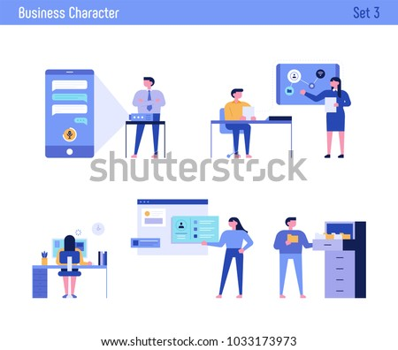office concept business people vector illustration flat design