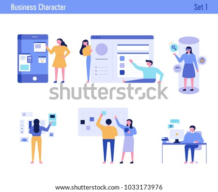 office concept business people vector illustration flat design - Shutterstock ID 1033173976