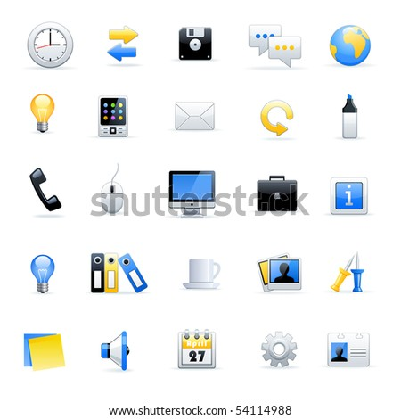 Office end business icons