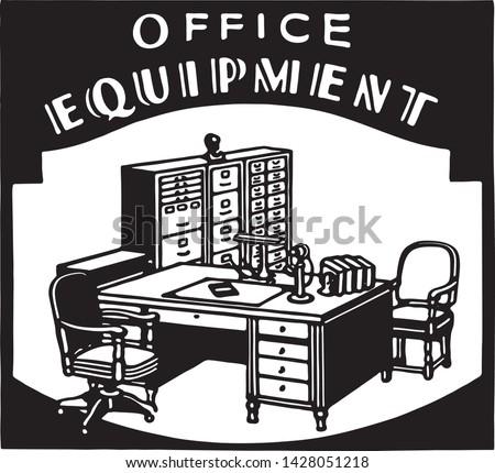 Office Equipment 2 - Retro Ad Art Banner for Business
