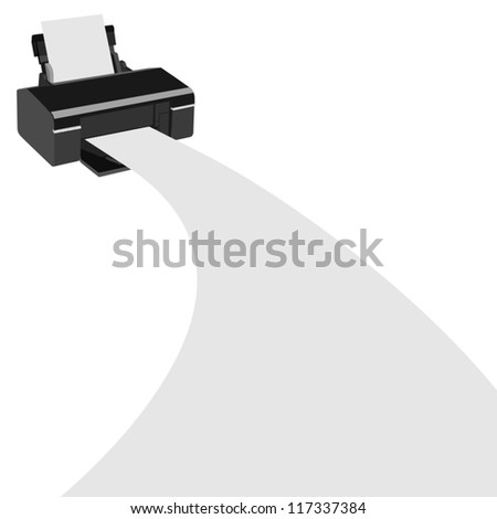 Office equipment. The illustration on a white background.