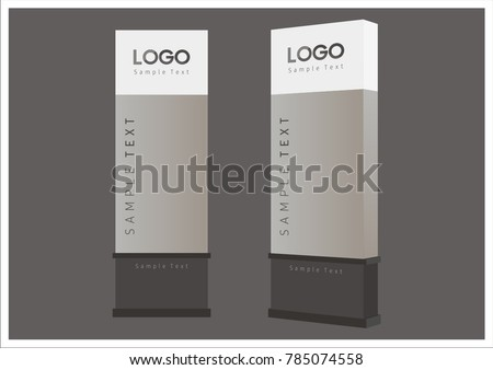 office exterior monument sign, pylon sign, signage, advertising construction ストックフォト ©