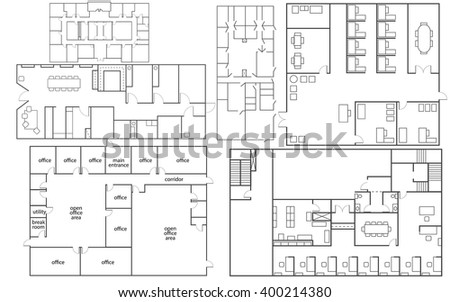 Office Floor Plan Vectors - Download Free Vector Art, Stock ...