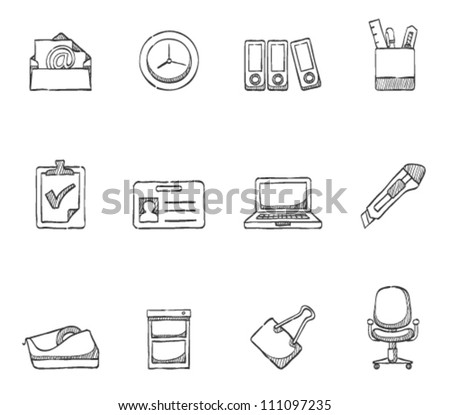 Office icon  series in sketch
