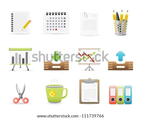 Office Icons Set For Application Or Web Site