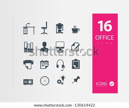 Office icons ( Set of 16 Quality icons )