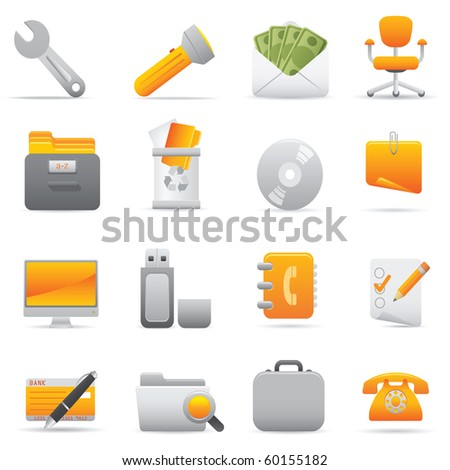Office Icons, Yellow11 Professional icons for your website, application, or presentation