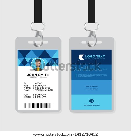 Office id card template - Corporate id card vector
