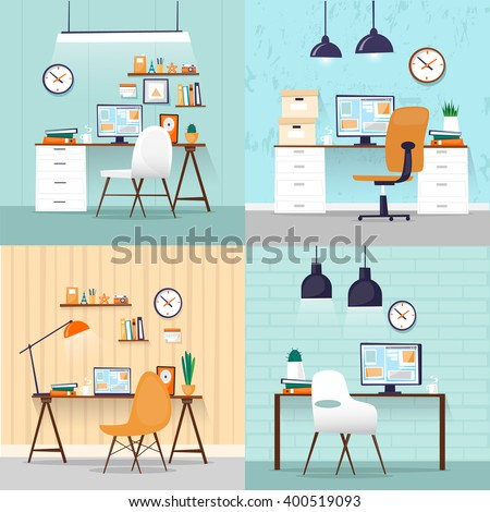 office interior with designer
