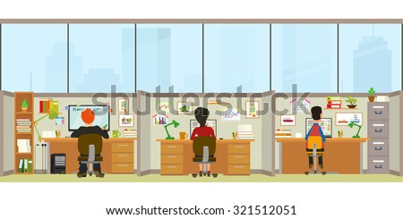 office interior workers