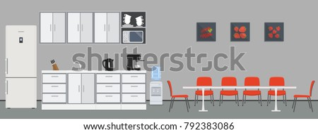 office kitchen dining room in
