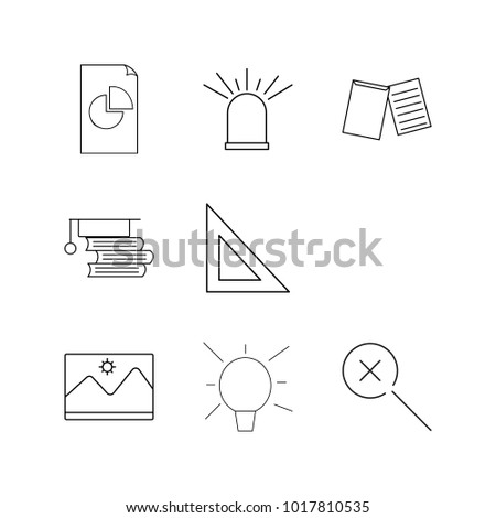 Office linear icon set. Simple outline icons #1017810535