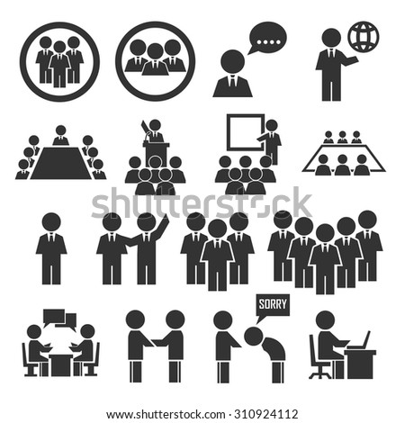 office man team icon set #310924112