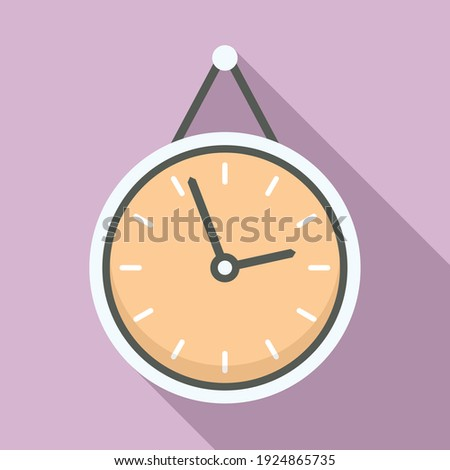 Office manager wall clock icon. Flat illustration of office manager wall clock vector icon for web design