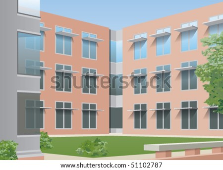 Office or college courtyard
