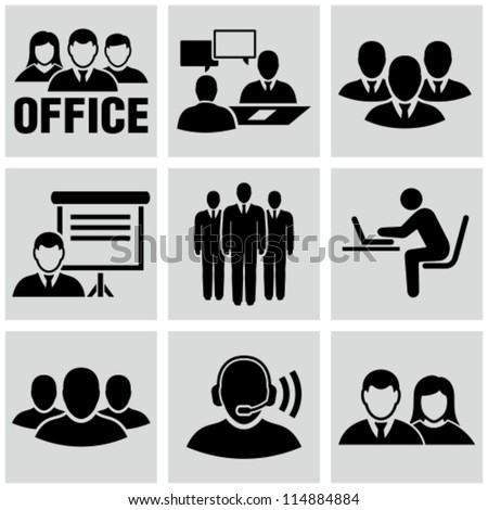 office people icons set.