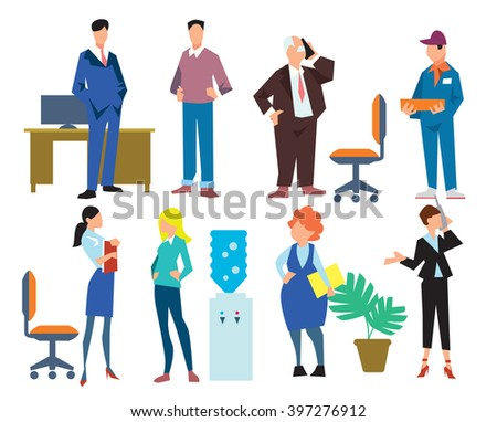 office people isolated on white
