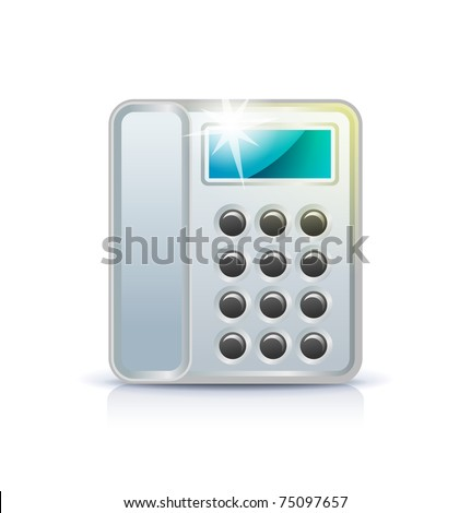 Office phone icon on white