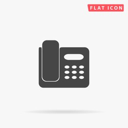Office Phone Icon Vector.