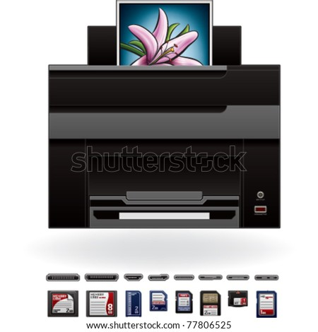 Office Photo InkJet Printer/Photocopier Front View