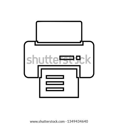 Office Printer icon vector - Printer sign