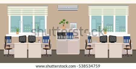 office room interior including