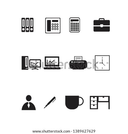 office set, icons set. Stationery pack. Vector illustration