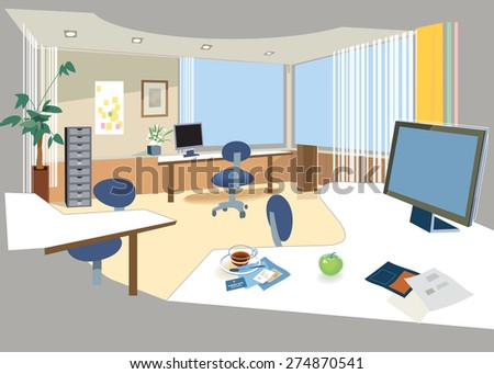 Office Space Vector 274870541 Shutterstock