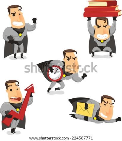 office superhero super employee