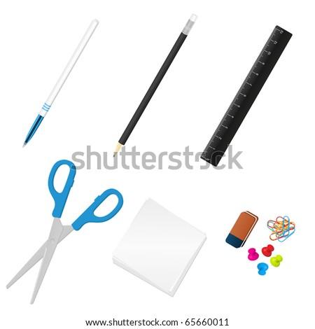 Office tools. Vector illustration.