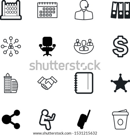 office vector icon set such as: member, vintage, summer, tourism, shake, professional, agreement, call, telemarketing, helpline, real, network, police, shaking, headphone, working, archive