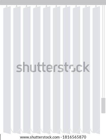Office Vertical Blinds Icon. Flat Color Design. Vector Illustration. Stock photo ©