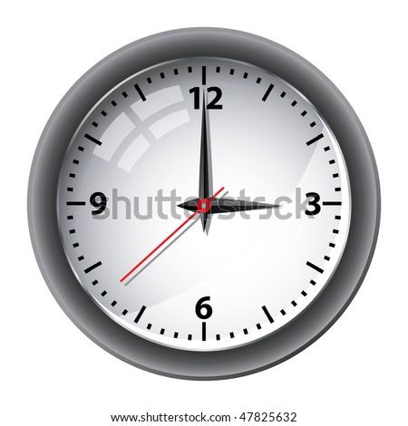 Office wall clock vector