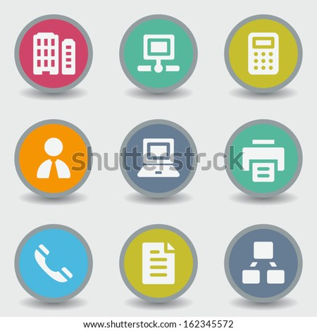 Office web icons, color circle buttons