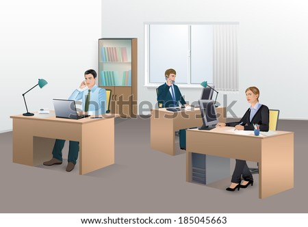Office with Staff