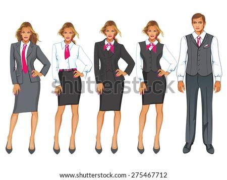 Office worker in uniform.