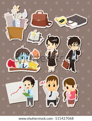 office worker stickers