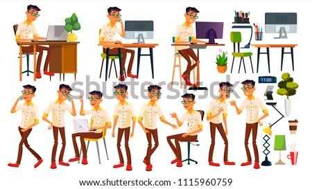office worker vector thai