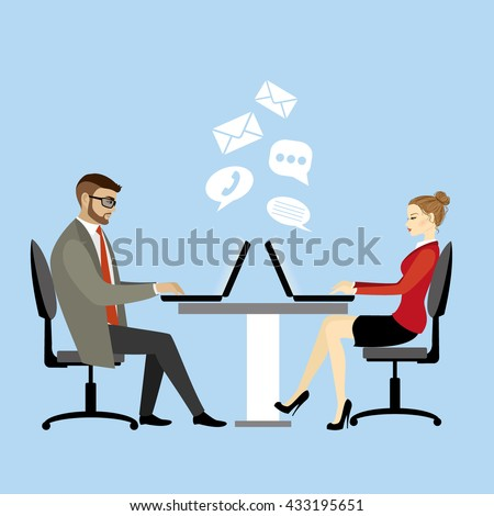 office workers or business